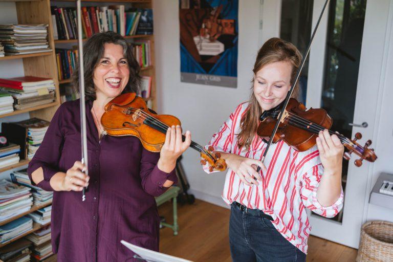 locatie vioolles in Amsterdam-Noord Irene Nas