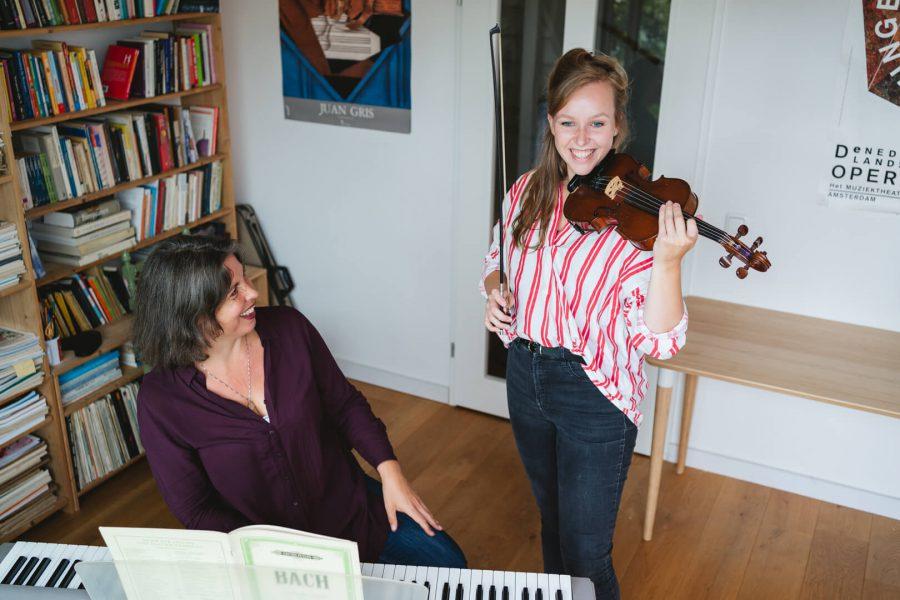 proefles vioolles in Amsterdam-Noord Irene Nas